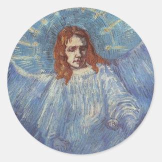 Angel by Vincent van Gogh Classic Round Sticker