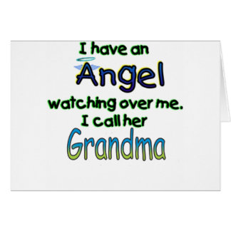 ANGEL CALLED GRANDMA CARD