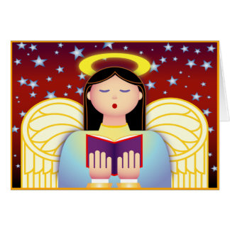 Angel Caroler Greeting Card