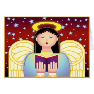 Angel Caroler Greeting Card