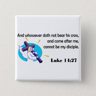 Angel carrying cross Christian design 2 Inch Square Button