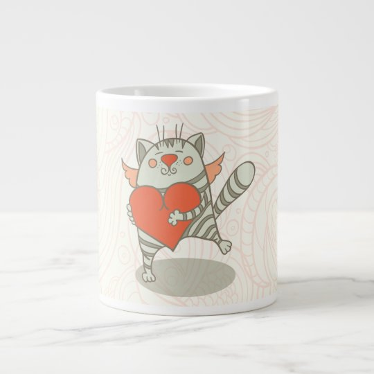 Angel Cat Fur Mom Cat Mom Mother's Day Giant Coffee Mug