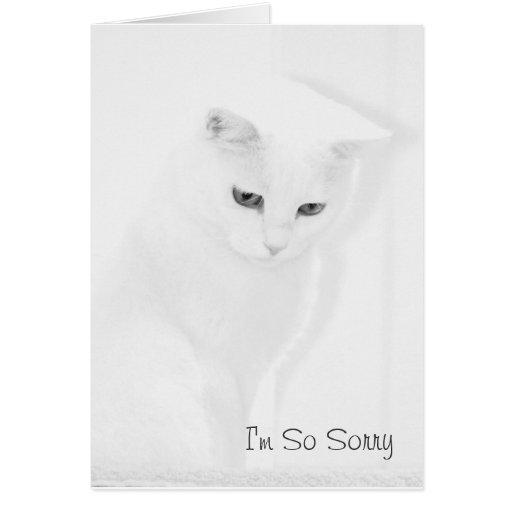 Angel Cat Sympathy Card