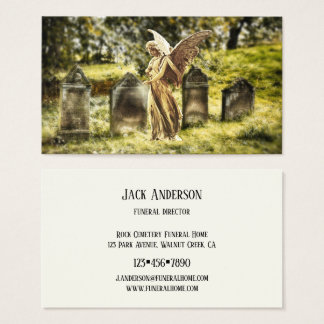 Angel Cemetery Funeral Director Business Card