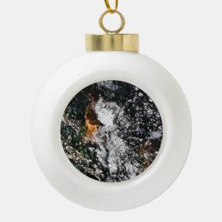 ANGEL CERAMIC BALL CHRISTMAS ORNAMENT