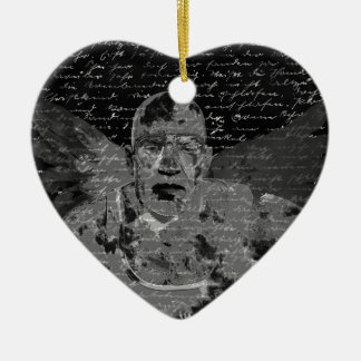 Angel Ceramic Heart Ornament