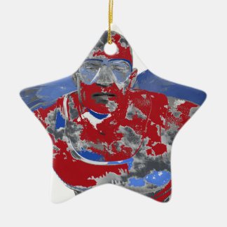 Angel Ceramic Star Ornament