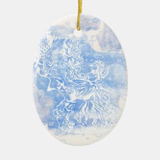 Angel&Cherub Ceramic Ornament