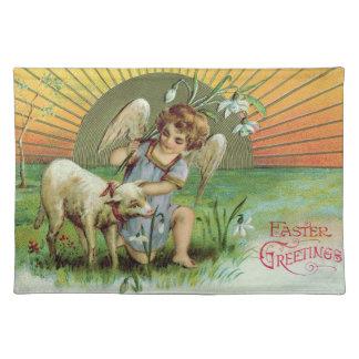 Angel Cherub Sun Lamb Sheep Place Mat