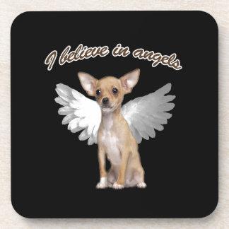 Angel Chihuahua Beverage Coaster
