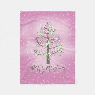 Angel Christmas Tree Orchid Pink ID197 Fleece Blanket