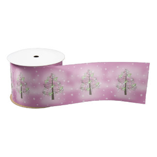 Angel Christmas Tree Orchid Pink ID197 Satin Ribbon