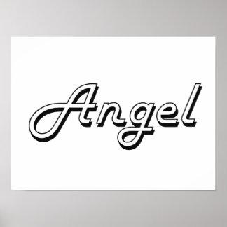 Angel Classic Retro Name Design Poster