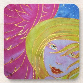 Angel Coasters: Silk Painted Image Drink Coasters