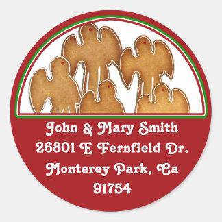 Angel Cookie Choir Round Sticker