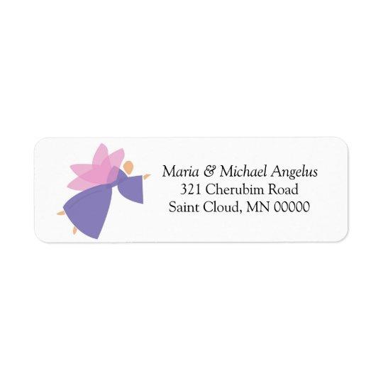 Angel Customized Merry Christmas Card Stickers Return Address Label