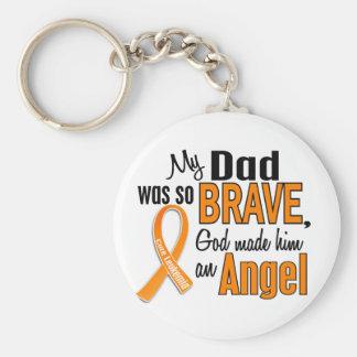 Angel Dad Leukemia Keychains