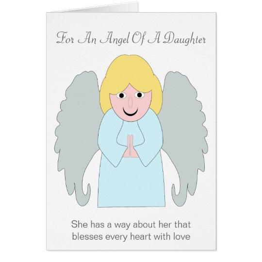 Angel Daughter Birthday Card