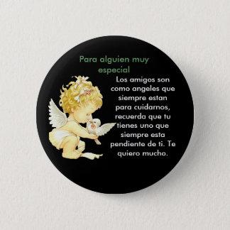 Angel de amistad 2 inch round button