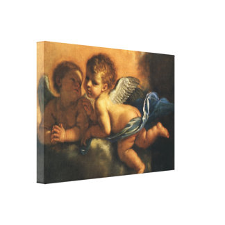 Angel detail, Patron Saints of Modena by Guercino Canvas Print