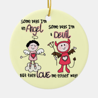 Angel Devil Ceramic Ornament