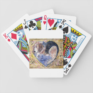 Angel Dog Bicycle Playing Cards