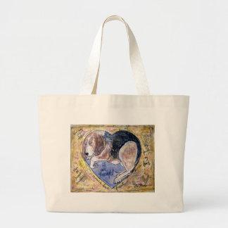 Angel Dog Large Tote Bag