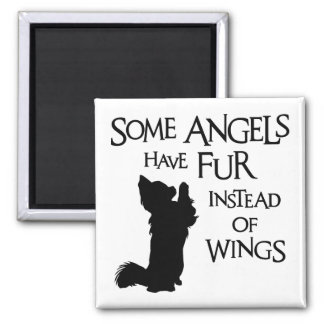 ANGEL DOG SQUARE MAGNET