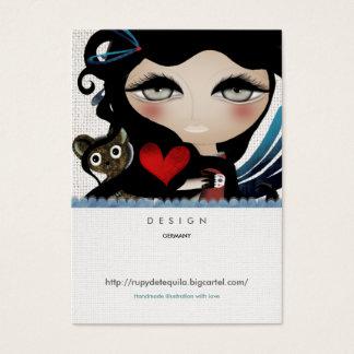 Angel doll sweet fairytale woman Business Cards