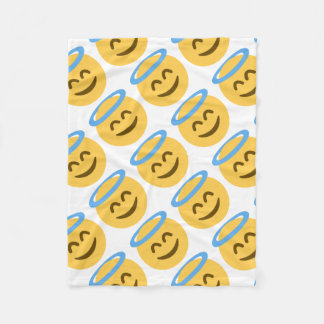 Angel Emoji Fleece Blanket