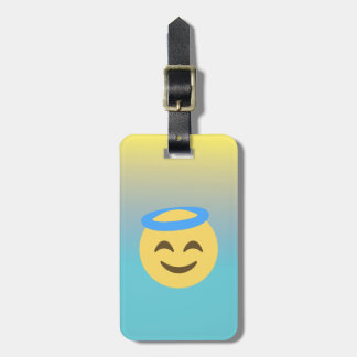 Angel Emoji Luggage Tag