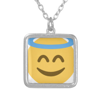 Angel Emoji Silver Plated Necklace