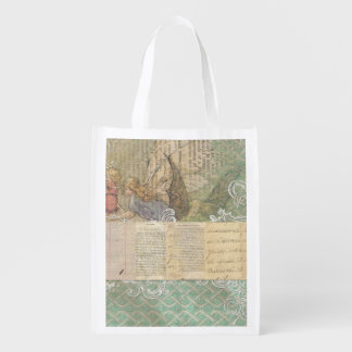 Angel Fairy Collage Reusable Grocery Bag