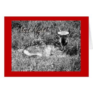 Angel Fawn - Silent Night Card