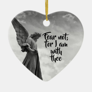 Angel, Fear Not, God's protection Inspirational Ceramic Ornament