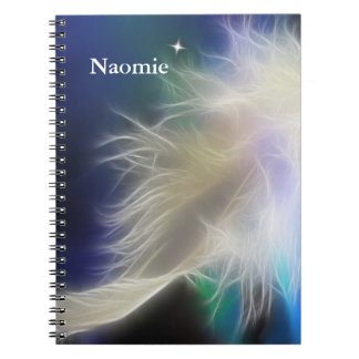 Angel Feather and Star Notebooks