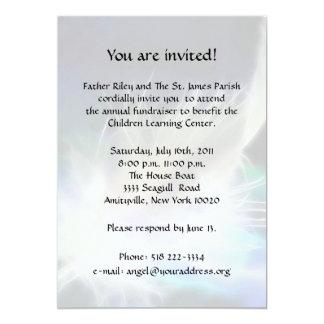 "Angel Feather Fundraiser 5"" X 7"" Invitation Card"