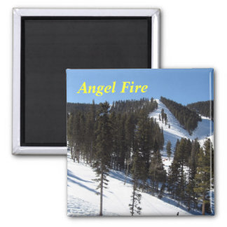 Angel Fire New Mexico Square Magnet