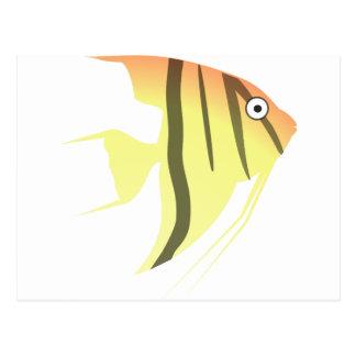 Angel Fish Cartoon Postcard