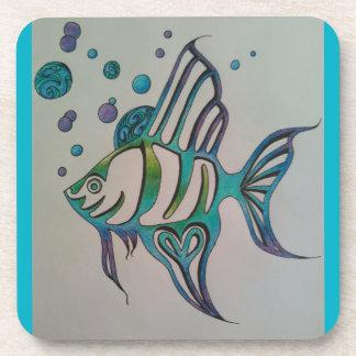 Angel Fish Drink Coaster