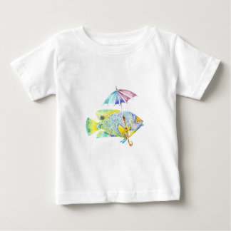 Angel Fish With Umbrella Baby T-Shirt