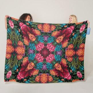Angel Flower Paradise Mandala Quilt Fleece Blanket