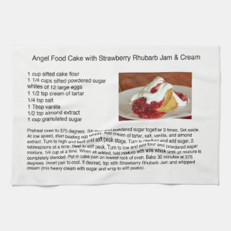 Angel Food Cake With Strawberry Rhubarb Kitchen Towel