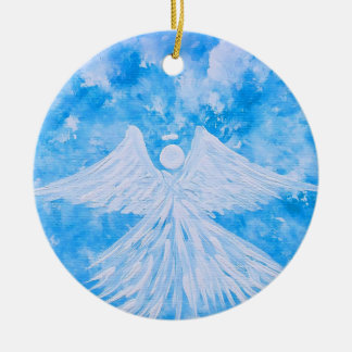 Angel from the sky ceramic ornament