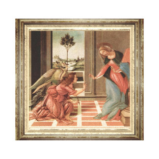 Angel Gabriel And Mary Canvas Print