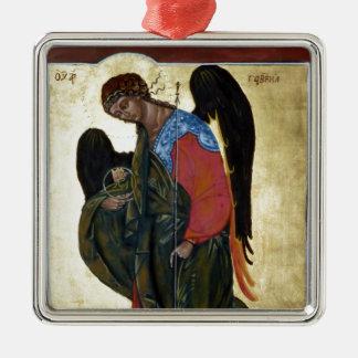 Angel Gabriel Silver-Colored Square Ornament