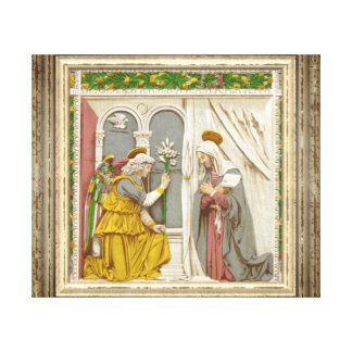 Angel Gabriel The Annunciation To Mary Canvas Print