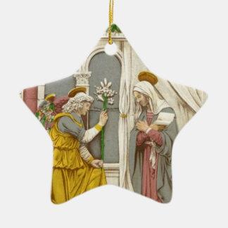 Angel Gabriel The Annunciation To Mary Ceramic Star Ornament