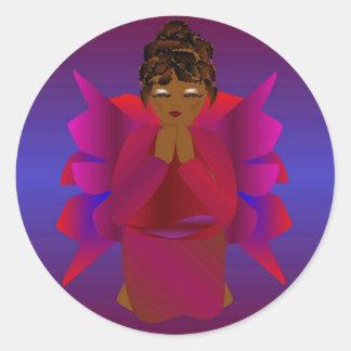 Angel Girl Round Sticker