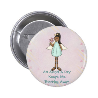 Angel Gloria Products 2 Inch Round Button